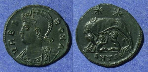 Ancient Coins - Urbs Roma Commemorative 330-346AD AE3 / 4 - Great Detail!!!!