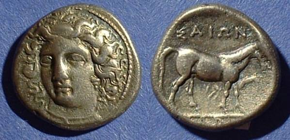 Ancient Coins - Larissa Thessaly Drachm Circa 400-344 - Mare and Foal reverse