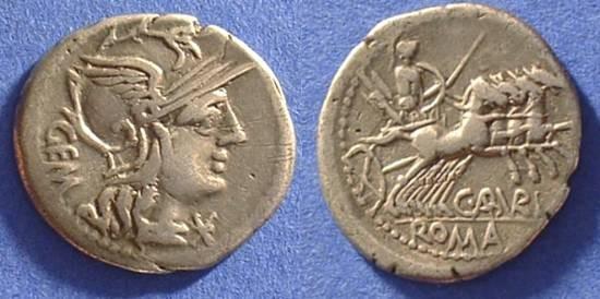 Ancient Coins - Roman Republic - Denarius - Aburia 1 - 134 BC