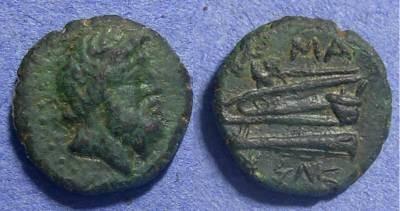 Ancient Coins - Arados, Phoenicia 24/3 BC, AE15