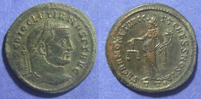 Ancient Coins - Roman Empire, Diocletian 284-305 AD, Follis