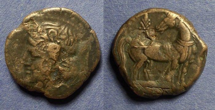 Ancient Coins - Zeugitania, Carthage 215-201 BC, Shekel