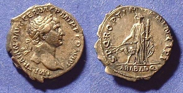 Ancient Coins - Trajan 98-117 AD - Arabia denarius