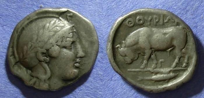 Ancient Coins - Lucania, Thourioi Circa 400 BC, Nomos