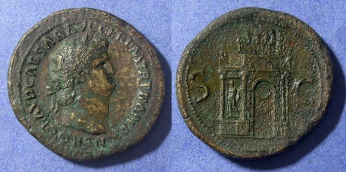 Ancient Coins - Roman Empire, Nero 54-68 AD, Sestertius