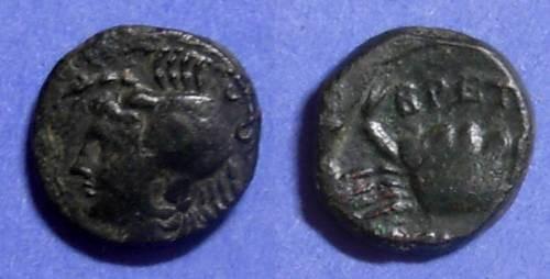 Ancient Coins - Brettii, Bruttium 216-203 BC, Quartuncia