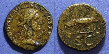 Ancient Coins - Roman Empire, Domitian 81-96 AD, Semis
