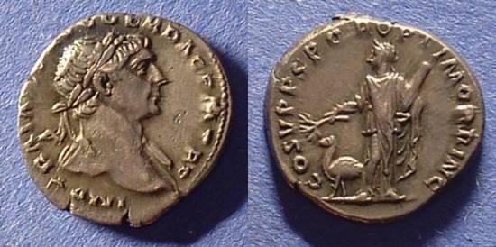Ancient Coins - Trajan 98-117 AD Denarius - Arabia reverse
