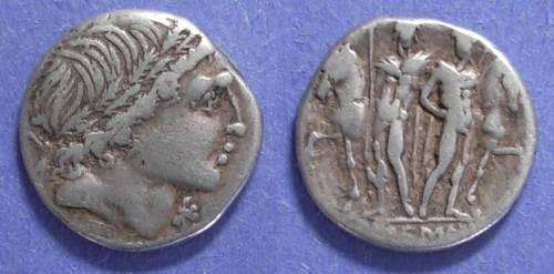Ancient Coins - Roman Republic, L Memmius 109/8 BC, Denarius