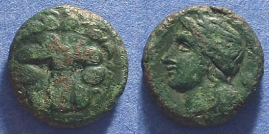 Ancient Coins - Rhegion Bruttium - AE20 - 350-270BC