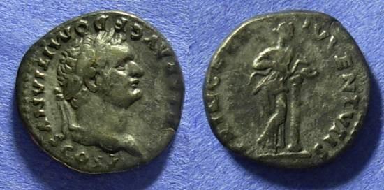 Ancient Coins - Domitian (as Caesar) 69-79AD Denarius