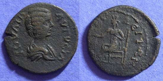 Ancient Coins - Julia Domna - 193-217AD - AE23 of Amphipolis Macedonia