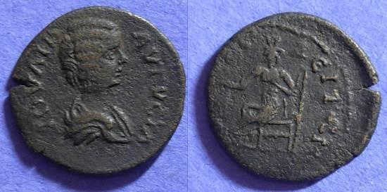 Ancient Coins - Julia Domna - 193-217AD - AE23 of Amphipolis Macedonia