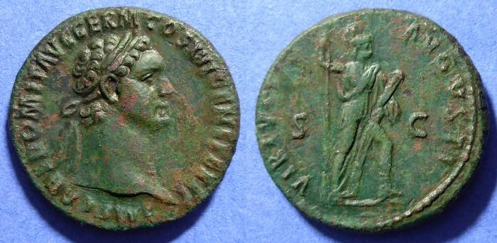 Ancient Coins - Domitian 81-96AD Aes