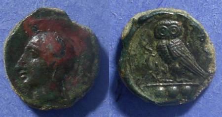 Ancient Coins - Kamarina, Sicily 413-405 BC, Tetras