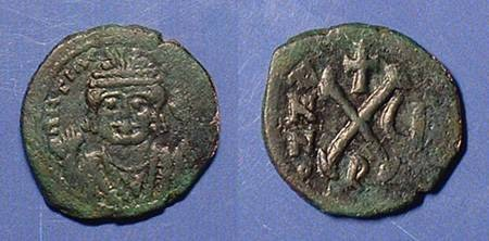 Ancient Coins - Maurice Tiberius 582-602, Decanummi of Antioch