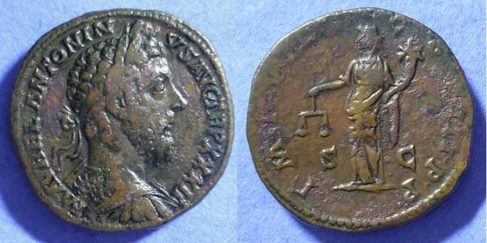 Ancient Coins - Marcus Aurelius 161-180 – Sestertius