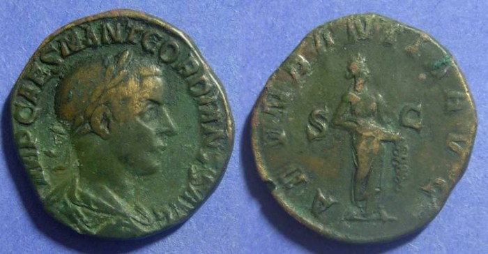 Ancient Coins - Roman Empire, Gordian III 238-244 AD, Sestertius
