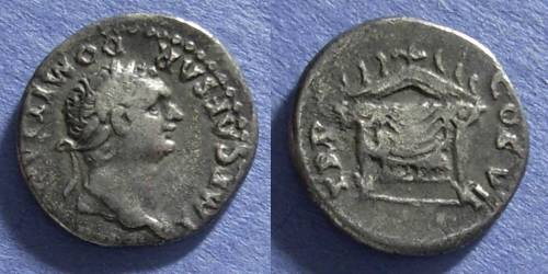 Ancient Coins - Roman Empire, Domitian 81-96AD, Denarius
