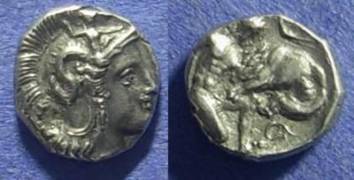 Ancient Coins - Taras Calabria – Diobol Circa 340 BC