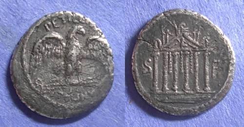 Ancient Coins - Roman Repulbic, Petillius Capitolinus Sept- Dec 43 BC, Denarius