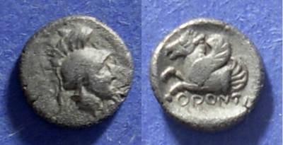 Ancient Coins - Mysia, Orontas - Satrap 360-355 BC, Obol