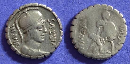 Ancient Coins - Roman Republic – Aquillia 2 Denarius 65 BC