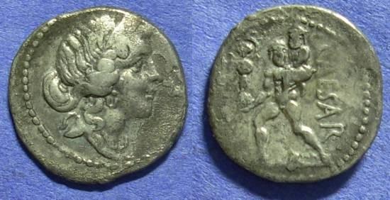 Ancient Coins - Roman Imperatorial – Julius Caesar d. 44BC Denarius