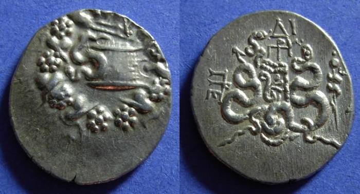 Ancient Coins - Pergamon Mysia - under roman rule after 133 BC - Cistophoric Tetradrachm