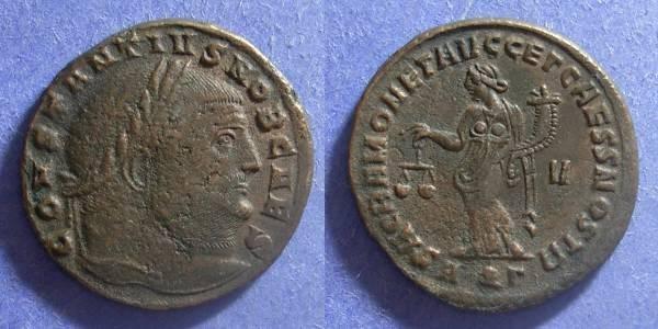 Ancient Coins - Roman Empire, Constantius I (Caesar) 293-305, Follis