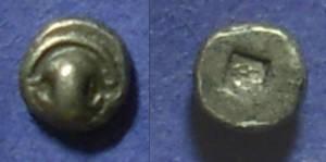 Ancient Coins - Thebes Boeotia – Tiny  Tetartemorion, 480-460 BC