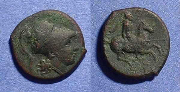 Ancient Coins - Syracuse Sicily AE-21 Agathocles 317-289 BC