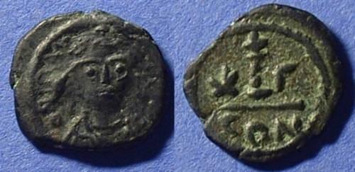 Ancient Coins - Maurice Tiberius 582-602 - Decanummium of Constantinople