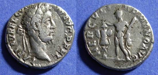 Ancient Coins - Commodus 177-192 Denarius - Hercules reverse
