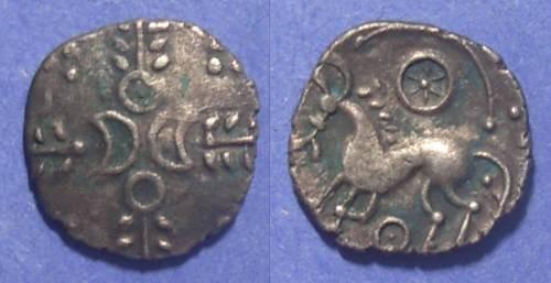 Ancient Coins - Britian, Iceni 65-1 BC, AR Unit