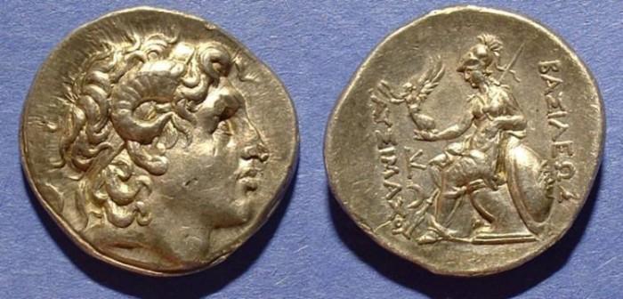 Ancient Coins - Kingdom of Thrace - Lysimachos 321-281BC Tetradrachm