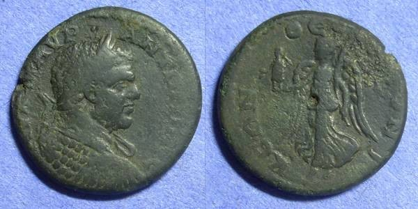 Ancient Coins - Thessalonika Macedonia – Caracalla 198-217AD – AE25