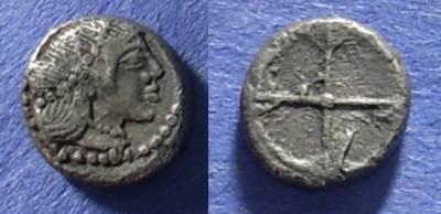 Ancient Coins - Syracuse, Sicily Circa 470 BC, Obol