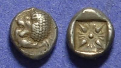 Ancient Coins - Miletos Ionia Circa 500 BC 1/12 Stater