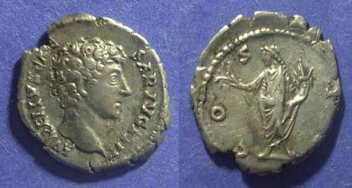 Ancient Coins - Roman Empire, Marcus Aurelius (as Caesar) 161-180 AD, Denarius