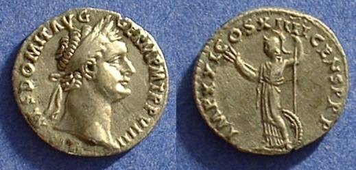 Ancient Coins - Domitian as Augustus 81-96AD Denarius