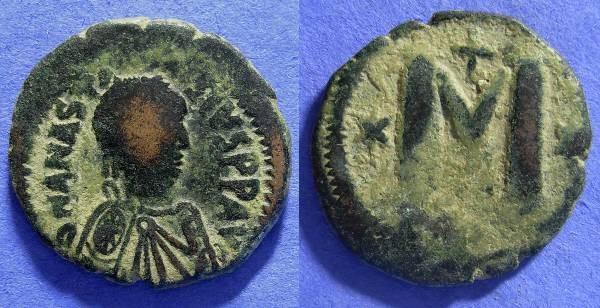 Ancient Coins - Byzantine - Anastasius 491-518 - Follis
