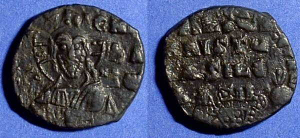 Ancient Coins - Class A1 Anonymous follis - attributed to John I 969-976 o/s on Nicephorus II