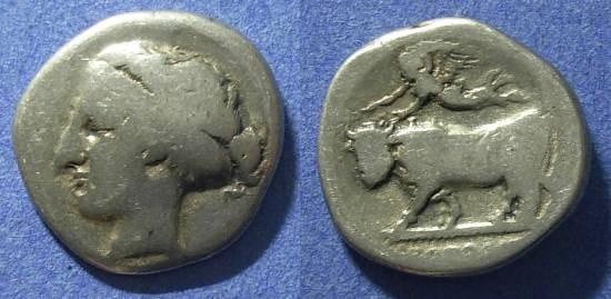Ancient Coins - Campania, Neapolis 420-400 BC, Nomos