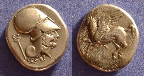 Ancient Coins - Leukas Akarnania Stater Circa 300 BC