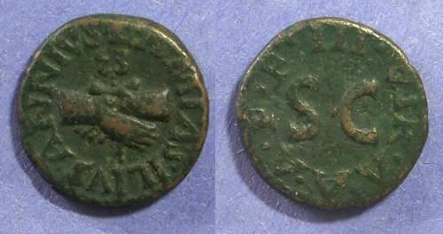 Ancient Coins - Roman Empire, Augustus 27 BC-14AD, Quadrans