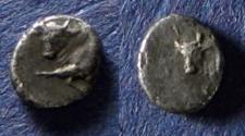 Ancient Coins - Caria, Uncertain city 420-390 BC, Hemiobol