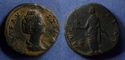 Ancient Coins - Roman Empire, Faustina Sr. d. 141, Sestertius