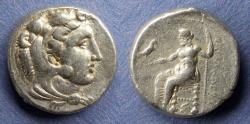 Ancient Coins - Macedonian Kingdom, Alexander III 336-323 BC, Lifetime Tetradrachm