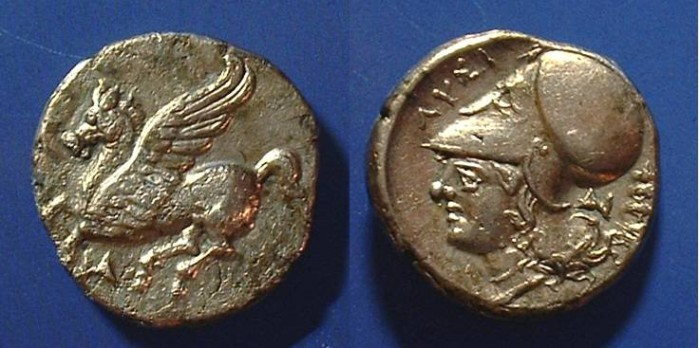 Ancient Coins - Anaktorion, Akarnania Stater 300-250 BC